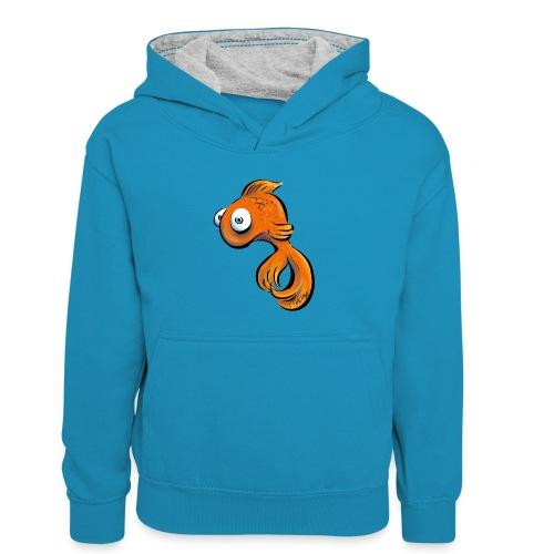Frustfisch - Kinder Kontrast-Hoodie