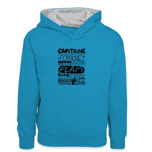 capitaine - Sweat à capuche contrasté Enfant