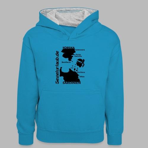 Korsika Sardinien Mori Shirt - Kinder Kontrast-Hoodie