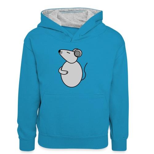 Rat - just Cool - c - Kinder Kontrast-Hoodie