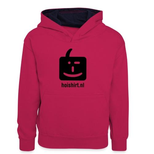 hoi back ai - Teenager contrast-hoodie/kinderen contrast-hoodie