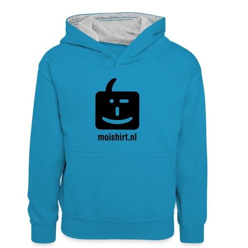 moi shirt back - Teenager contrast-hoodie/kinderen contrast-hoodie