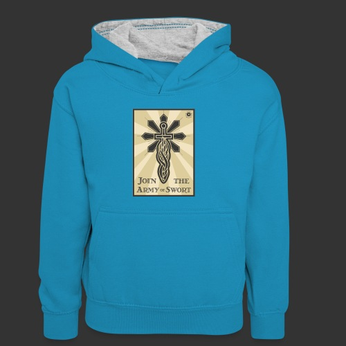 Join the Army of Swort - Kids' Contrast Hoodie