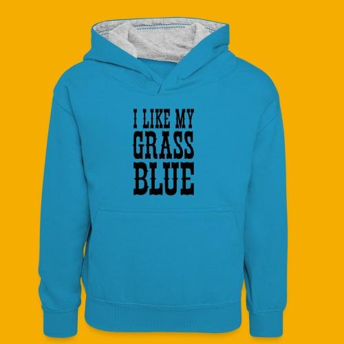 bluegrass - Teenager contrast-hoodie/kinderen contrast-hoodie