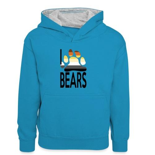 I love bears - Sweat à capuche contrasté Enfant