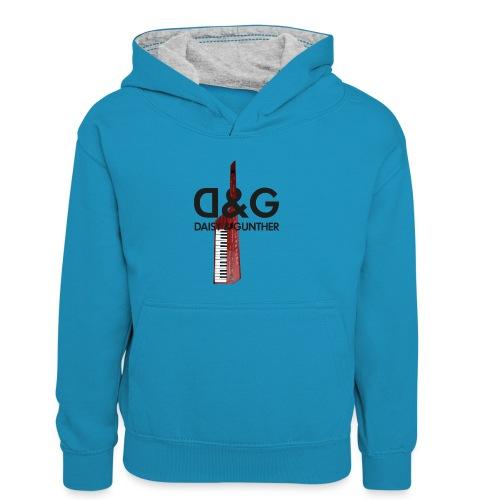 Met keytar-logo - Teenager contrast-hoodie/kinderen contrast-hoodie