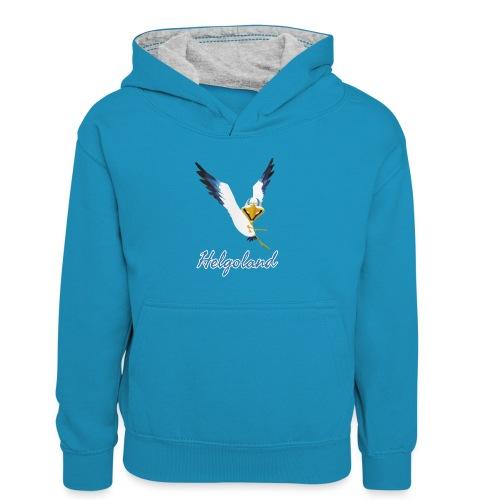 Lachmöwe Helgoland - Kinder Kontrast-Hoodie