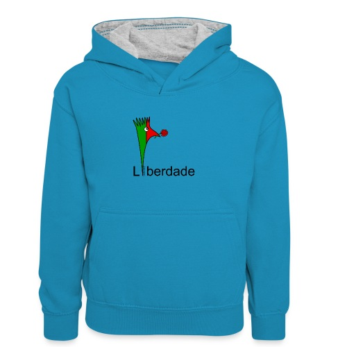 Galoloco - Liberdaded - 25 Abril - Kids' Contrast Hoodie
