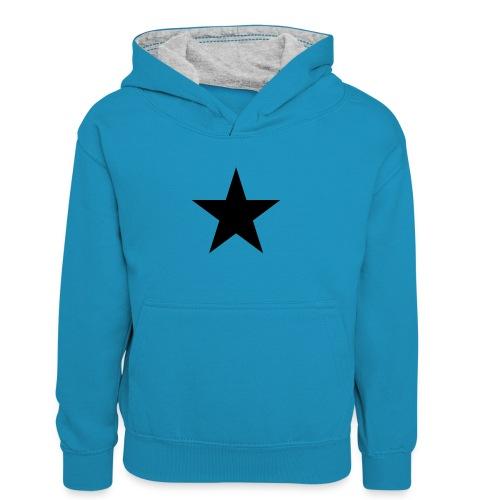 Ardrossan St.Pauli Black Star - Kids' Contrast Hoodie