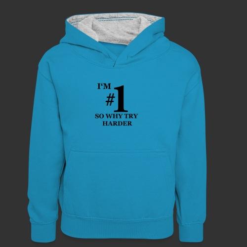 T-shirt, I'm #1 - Kontrastluvtröja barn
