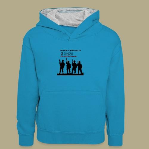 Skirm Checklist - Teenager contrast-hoodie/kinderen contrast-hoodie