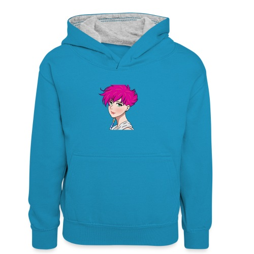 logo without name - Kids' Contrast Hoodie