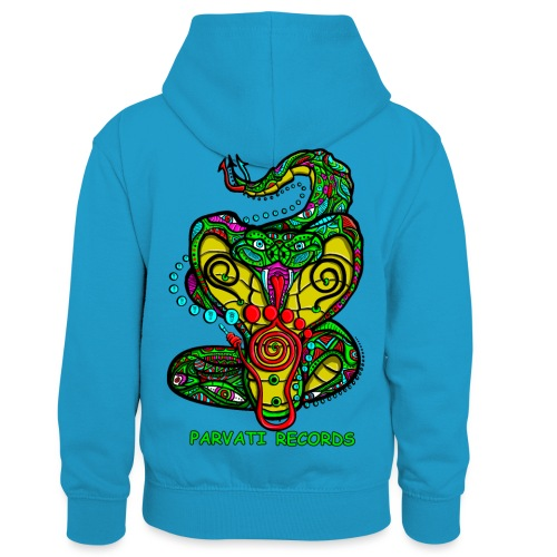 Parvati Records Cobra by Juxtaposed HAMster - Kids' Contrast Hoodie