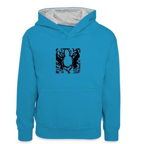 tijger2010shirt2 - Kids' Contrast Hoodie