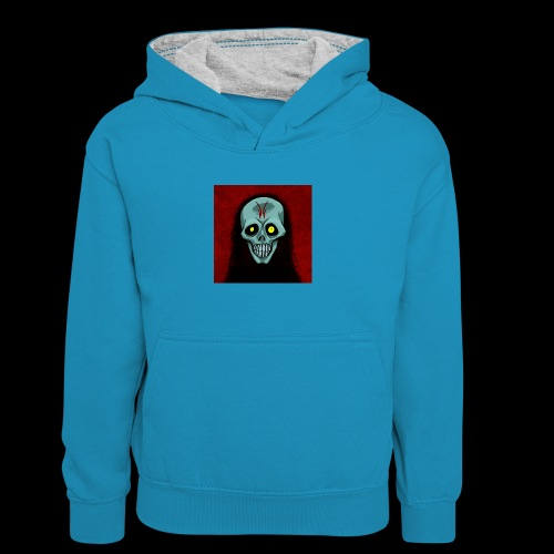 Ghost skull - Kids' Contrast Hoodie