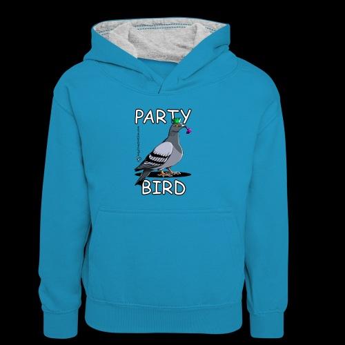 Party Bird - Kids' Contrast Hoodie