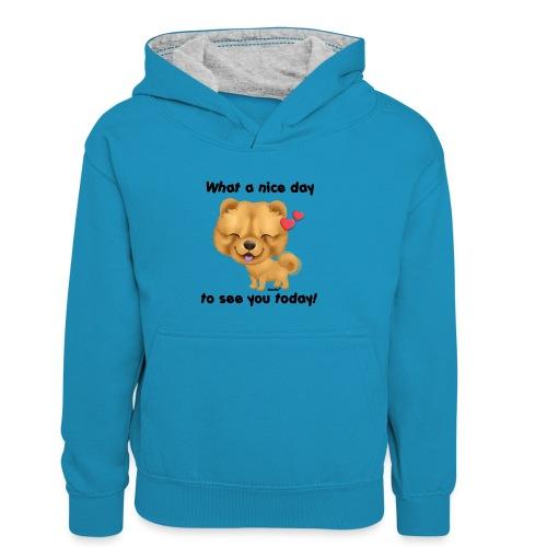 Miły dzień przez Niszczacy - Dziecięca bluza z kontrastowym kapturem
