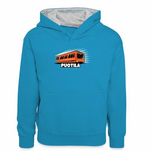 HELSINKI PUOTILA METRO T-Shirts, Hoodies, Gifts - Lasten kontrastivärinen huppari