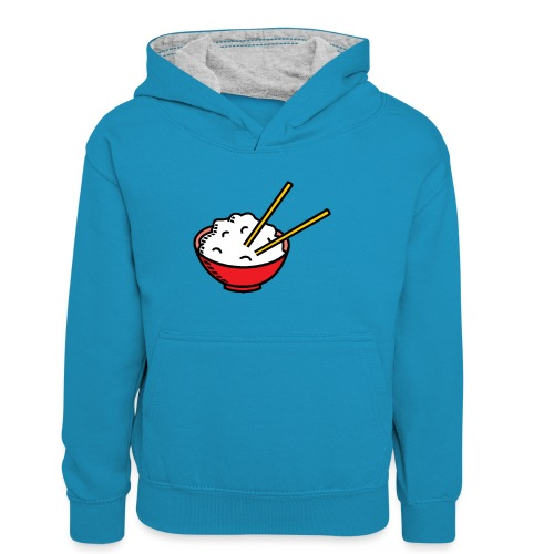 ReisSchüssel - Kinder Kontrast-Hoodie