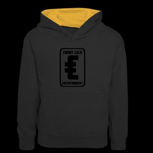 ZwartGeld Logo Sweater - Teenager contrast-hoodie/kinderen contrast-hoodie