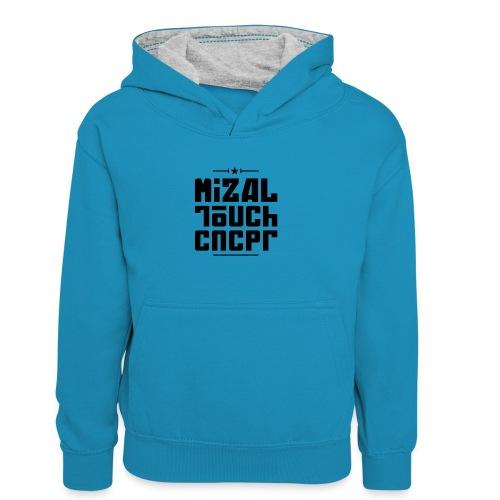 Logo MiZAL Touch Concept - Dziecięca bluza z kontrastowym kapturem
