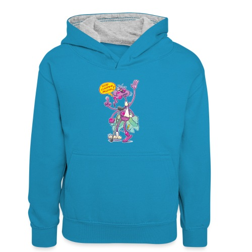 Moustique supplie de stopper les applaudissements - Kids' Contrast Hoodie