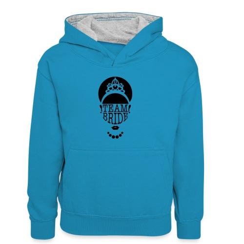 team bride - Teenager contrast-hoodie/kinderen contrast-hoodie