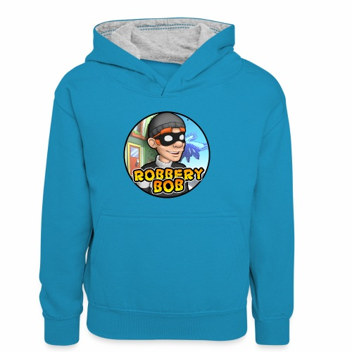 Robbery Bob Button - Kids' Contrast Hoodie