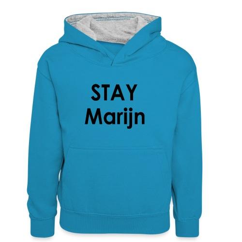 stay marijn black - Teenager contrast-hoodie/kinderen contrast-hoodie