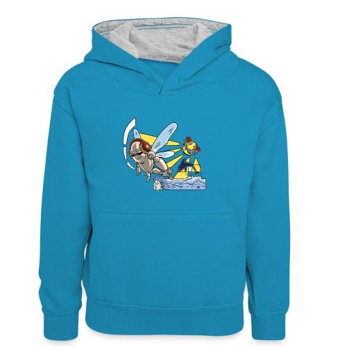 Sunshine buzz - Teenager contrast-hoodie/kinderen contrast-hoodie