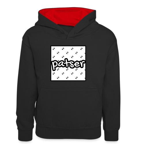 Patser - Basic Print White - Teenager contrast-hoodie/kinderen contrast-hoodie
