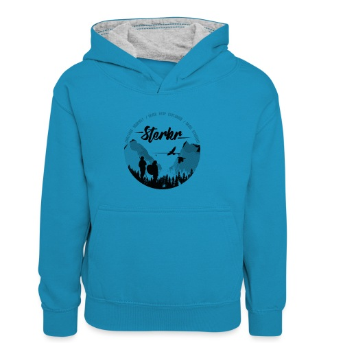 STERKR - Fjordview - Kids' Contrast Hoodie