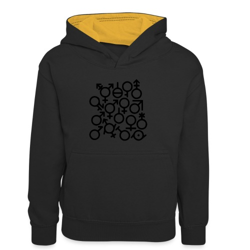 Multi Gender B/W - Teenager contrast-hoodie/kinderen contrast-hoodie