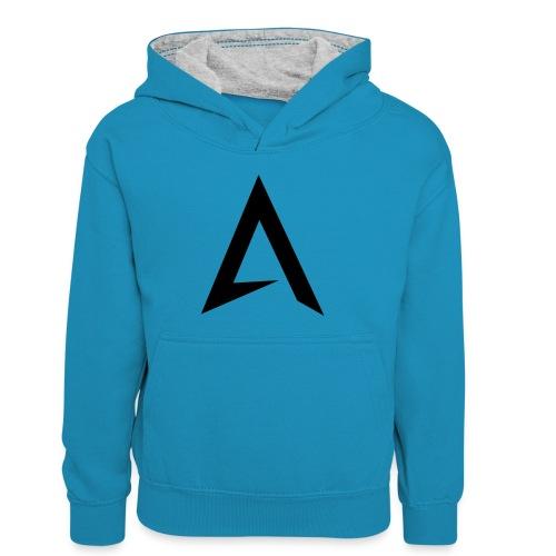 alpharock A logo - Kids' Contrast Hoodie