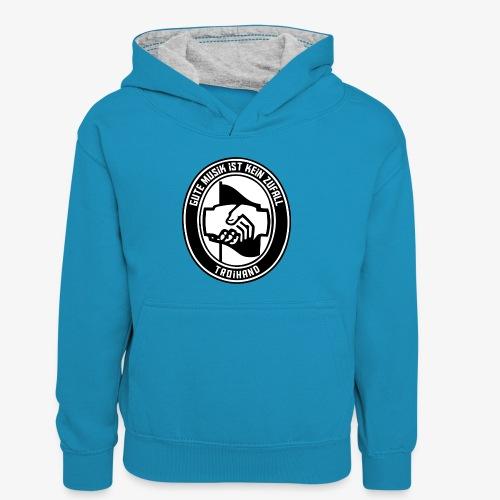 Logo Troihand - Kinder Kontrast-Hoodie