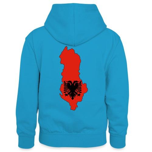 Albania - Sweat à capuche contrasté Enfant