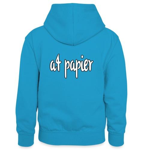 A4Papier - Teenager contrast-hoodie/kinderen contrast-hoodie