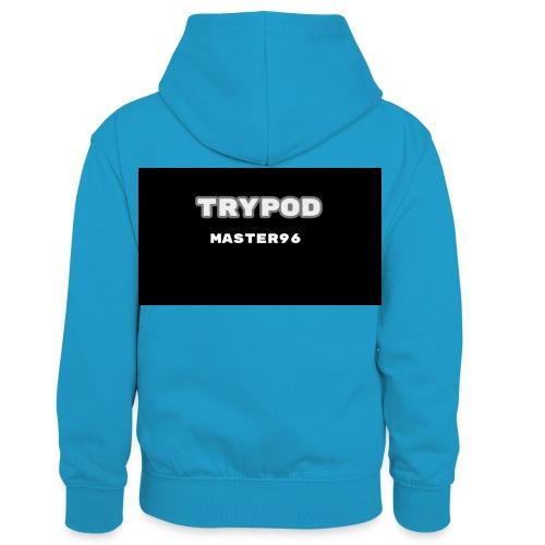 trypod master96 - Kids' Contrast Hoodie