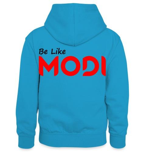 Be Like MoDi - Dziecięca bluza z kontrastowym kapturem