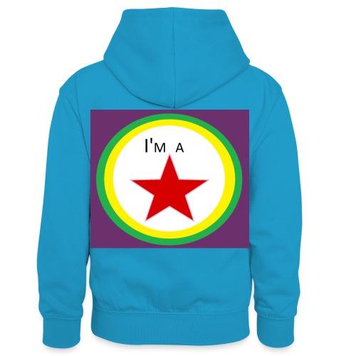 I'm a STAR! - Kids' Contrast Hoodie