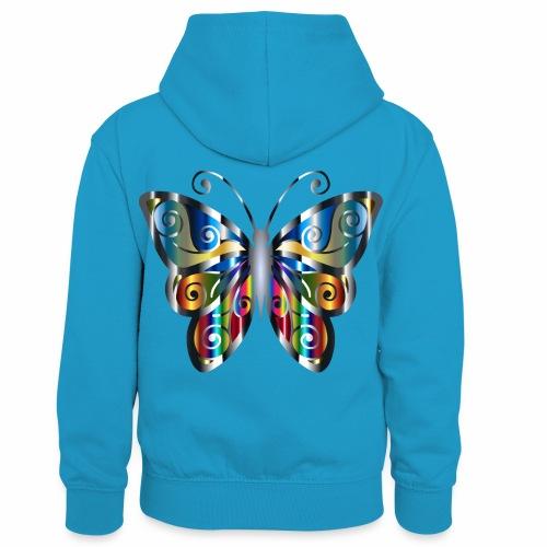 butterfly - Dziecięca bluza z kontrastowym kapturem