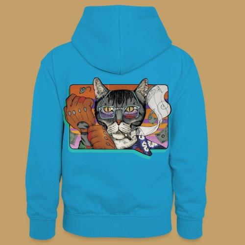 Crime Cat - Dziecięca bluza z kontrastowym kapturem