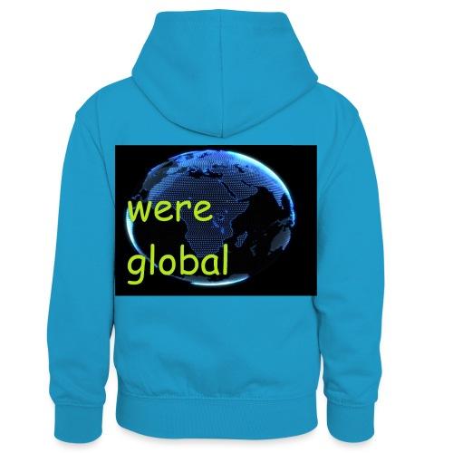 Were Global - Lasten kontrastivärinen huppari