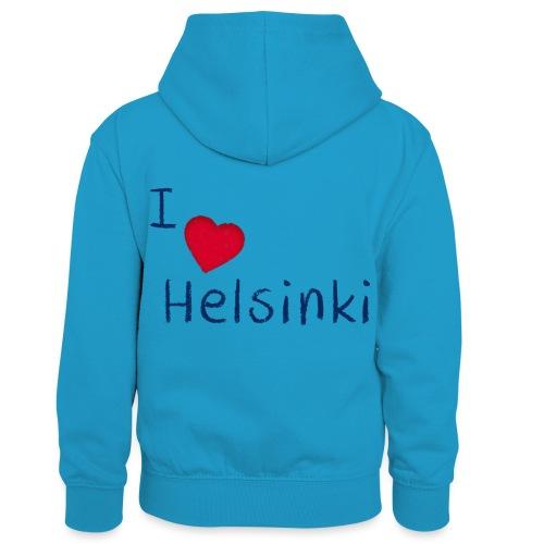 I Love Helsinki - Lasten kontrastivärinen huppari