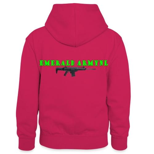 EMERALDARMYNL LETTERS! - Teenager contrast-hoodie/kinderen contrast-hoodie