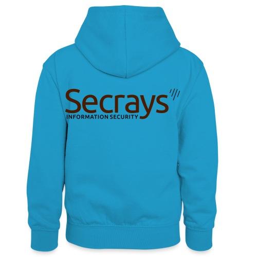 Secrays vektori logo - Lasten kontrastivärinen huppari