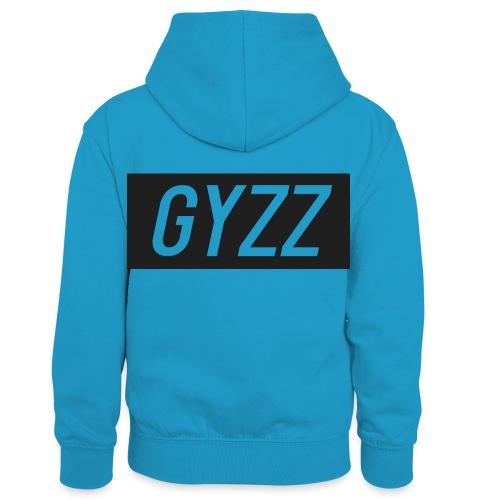 Gyzz - Kontrasthoodie børn
