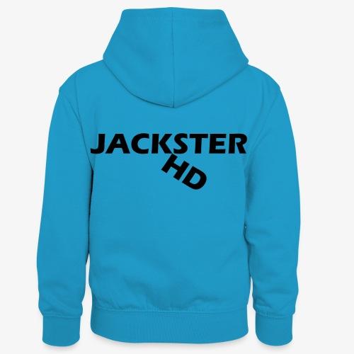 jacksterHD shirt design - Kids' Contrast Hoodie