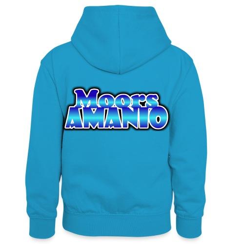 MoorsAmanioLogo - Teenager contrast-hoodie/kinderen contrast-hoodie