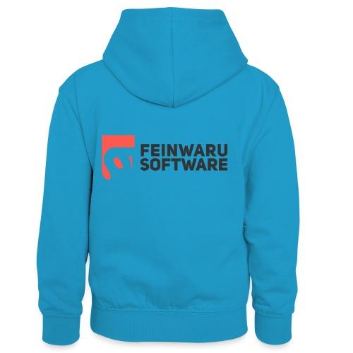 Feinwaru Full Logo - Kids' Contrast Hoodie